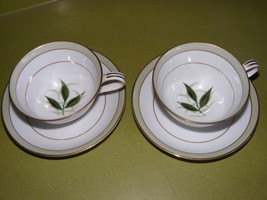 4 Noritake Greenbay Cup & Saucer Sets Very Good Condition - $19.95