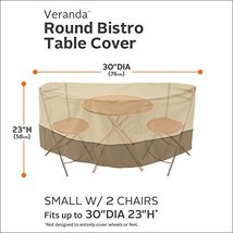 Classic Accessories Veranda Bistro Patio Table & Chairs Set Cover - Durable and  image 2