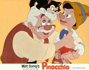 Disney Pinocchio Gepetto and Figaro the Cat  Lobby Card