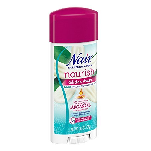 Nair Hair Remover Glides Away Nourish With Argan Oil 3.3 Ounce 97ml 2 Pack