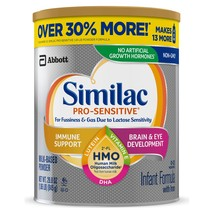 Similac Pro-Sensitive Infant Formula with Iron, with 2'-FL HMO, For Immu... - $53.82