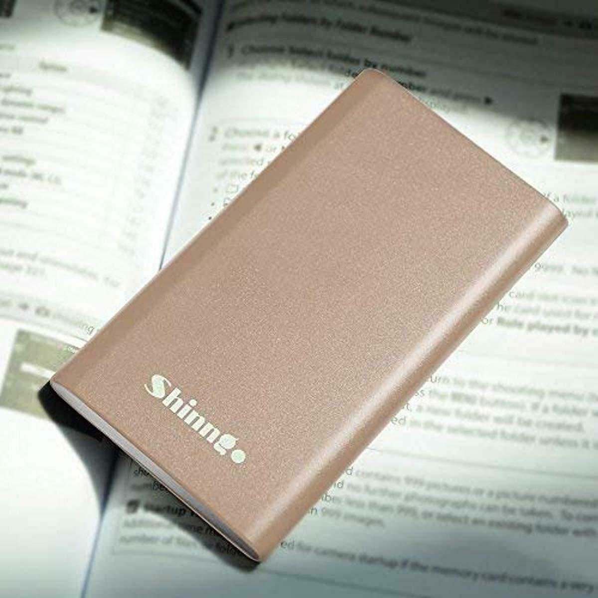 Shinngo Portable Charger 4000mAh Battery Ultra Slim Power Bank Aviation Aluminum
