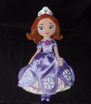 "13 "" Disney Store Sofia The First Viola Principessa Peluche Peluche Bambola - $17.59"