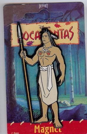 Disney Pocahontas Kocoum Indian Magnet mint never used