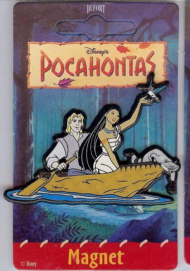 Disney Pocahontas Meeko Flit John Boat Magnet mint