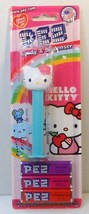 Hello Kitty Pez with pink Hibiscus Flower Hawaiian Blister Pack New - $3.95