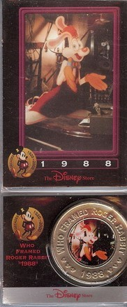 Disney Roger Rabbit dated 1988 Decades Coin