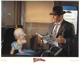 Disney Roger Rabbit original w/ Baby Herman dated 1988