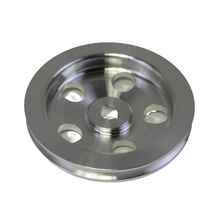 3/8 Saginaw Power Steering Pump Single-Groove Aluminum Pulley For GM (Chrome) image 4