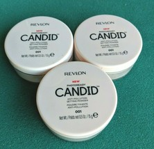 Lot 3 Revlon New Photoready Candid Anti-Pollution Setting Powder 001 0.5 Oz - $14.01