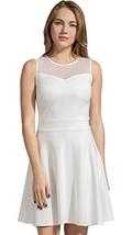 Sylvestidoso Women's A-Line Sleeveless Pleated Little White Cocktail Par... - $33.99