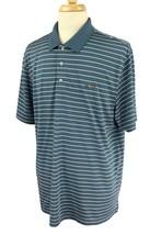 Greg Norman Tasso Elba Men's Five Iron Play Dry Golf Polo Blue Stripe Sh... - $16.67