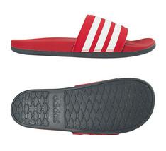 adidas Adilette Comfort Slipper Unisex Casual Gym Swimming Red NWT EG1852 - $42.69