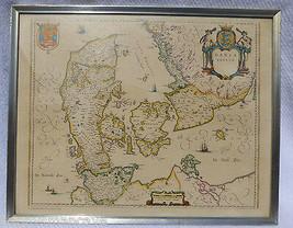GUILJELMI F. BLAEU  ANNO 1634 MILLIARIA GERMANICA COMMUNIA DANIA REPRO MAP - $9.99