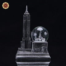 WR NYC Snow Globe Empire State Building Water Globe Resin Crystal Crafts... - $21.38