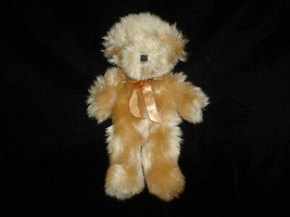 Ganz Bear 1995 Chestnut Satin Bow H1658 10 Inch Retired - $58.00