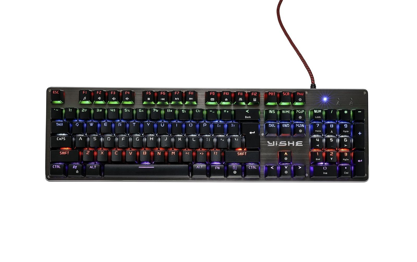 MGPLAY MG-V1 Mechanical Gaming Keyboard , Military Grade Metal Construction G...