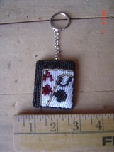 Beaded Key Chain - BLACK JACK - CARDS - GAMBLING - Lot of TWO (2) - $9.89