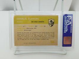 1961 Fleer Football Charlie Flowers #156 PSA 8 NM-MT San Diego Chargers Card image 6