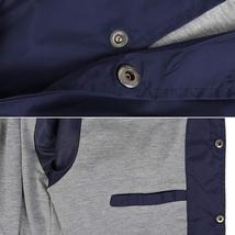 Men's Lightweight Water Resistant Button Up Nylon Windbreaker Coach Jacket image 9