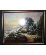 Thomas Kinkade Accent Art Print A New Day Dawning Framed COA 1998 - $14.99