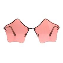 Star Shape Sunglasses Glasses Cute Stars Lens Half Rimless Frame UV 400 - $8.86+