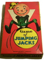 """An item in the Toys & Hobbies category: 1937 """"Game of Jumping Jacks"""" Milton Bradley Game"""