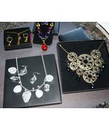 Avon Bold Necklace & Earring Set Lot - Vibrant Glow, Clear Winter, Safar... - $43.00