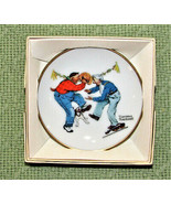 VINTAGE NORMAN ROCKWELL MINI PLATE COLLECTION FANCY FOOTWORK AUTUMN 1984... - $9.11