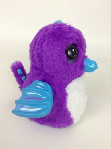 Hatchimals Draggle Purple Dragon Interactive Plush Toy Spin Master w Batteries