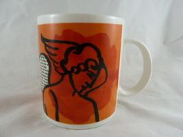 Vintage Starbucks Coffee Mug Cupids Love Sonnet w Poem On Wing Arrow Ins... - $29.65