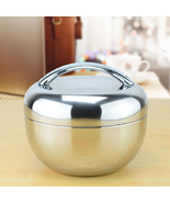 Thermos Food Container Double Stainless Steel Wall Handle 1 L Lunch Picn... - $19.89