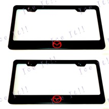 2 X Red Mazda CX-5 7 9 Red Stainless Steel Black License Plate Frame W/ Caps - $24.74