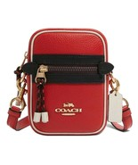 NWT COACH Mens Vale Phoebe Crossbody Colorblock Phone Bag Bright Red F83267 - $91.08