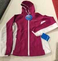 Columbia GIRLS Five Alarm Softshell Hoodie  LIGHT wind/rain  jacket MEDIUM - $34.64