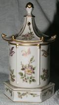 Porcelain Tea Canister Music Box Ginger Jar Lenwile Japan Ardalt NY Hand... - $49.99