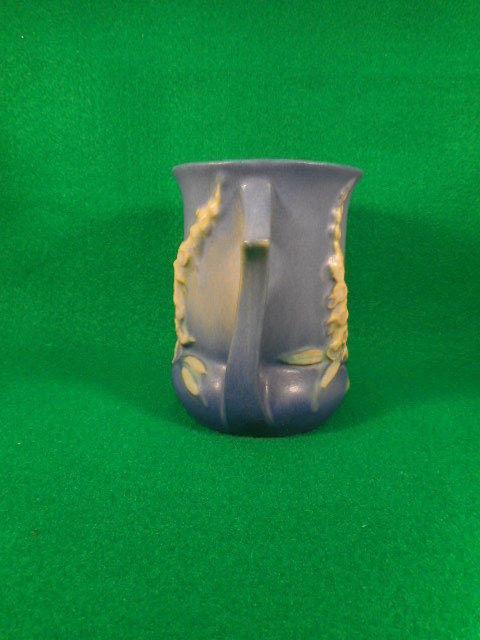 """Vintage Roseville Blue Foxglove 2 Handled Vase 42-4"""""""
