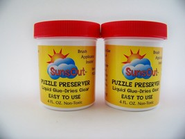 Puzzle Preserver Dry Liquid Glue Clear Non-Toxic by Sunsout 2 pk. total 8 oz. - $16.72