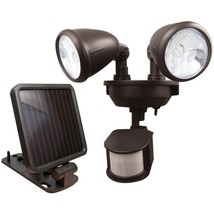 MAXSA Innovations 44216 Dual-Head Solar Spotlight (Dark Bronze) - $67.74
