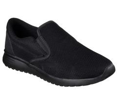 Skechers Black Shoes Men Memory Foam Comfort Slip On Casual Mesh Sneaker... - $49.79
