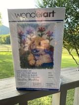 "Caron Wonder Art Latch Hook Kit Flower Pup 15"" x 20"" Kit #426121 New Sealed 4102 - $19.79"