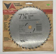 "NEW Vermont American 25630 Steel Cutoff/Rip Saw Blade 7-1/4"" 40 Teeth - $14.67"
