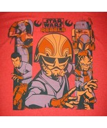 Star Wars Rebels Ghost Crew T-Shirt Licensed Crew Neck Red Shirt LARGE 4... - $9.85