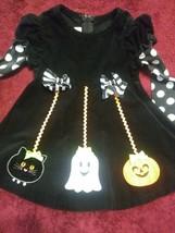 Bonnie Baby Halloween Dress Spooky Ghost Pumpkin Sz 24M Girls Precious As Is - $31.19