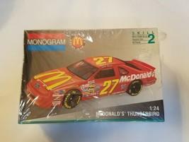 Monogram #27 McDonalds Thunderbird NASCAR Jimmy Spencer Model Kit Ford 1:24 NEW - $24.75