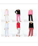 Charter Club Women's 2-Piece Long Sleeve Graphic Top & Pants Pajama Set - $11.76