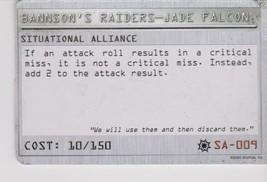 Mechwarrior Situational Alliance Bannson's Raiders Jade Falcon Sa 009 - $0.49
