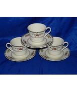 3 Royal Doulton Kingswood Teacup Saucer Ses Tea Cup 18176 Cups Set Teacups - $49.43