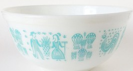 USA Pyrex Amish Butterprint Mixing Bowl Turquoi... - $37.39