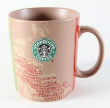 Vintage NOS New 2006 STARBUCKS Land of Origin Africa Brown Coffee Mug 14... - $11.47